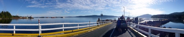 Summer ferries run hourly from Crofton, Vancouver Island to Vesuvius, Salt Spring Island