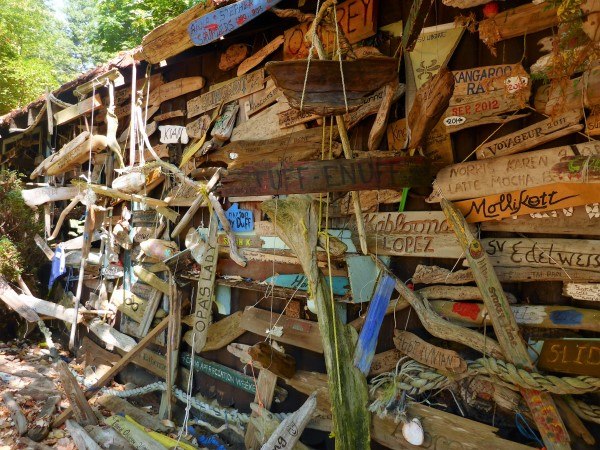 Conover Cove's driftwood display